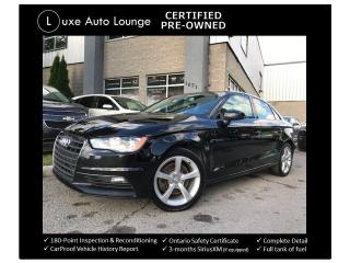 Used 2016 Audi A3 2.0T Komfort AWD - LEATHER, SUNROOF, HEATED SEATS! for sale in Orleans, ON
