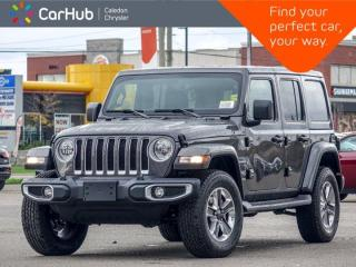 New 2021 Jeep Wrangler Unlimited Sahara 4x4 Hard Top Navigation   Apple Carplay Remote Start Leather Heated Front Seats for sale in Bolton, ON