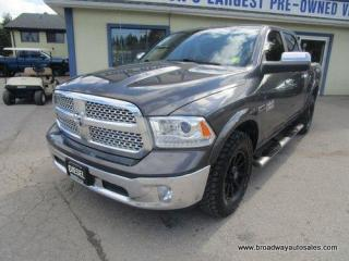 Used 2017 Dodge Ram 1500 LOADED LARAMIE-EDITION 5 PASSENGER 3.0L - DIESEL.. 4X4.. CREW.. SHORTY.. NAVIGATION.. LEATHER.. HEATED/AC SEATS.. POWER PEDALS.. BACK-UP CAMERA.. for sale in Bradford, ON