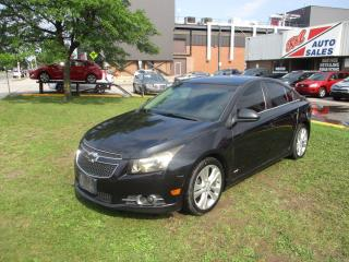 Used 2012 Chevrolet Cruze LT Turbo+ w/1SB ~ MANUAL ~ SUNROOF ~ LOW KM for sale in Toronto, ON