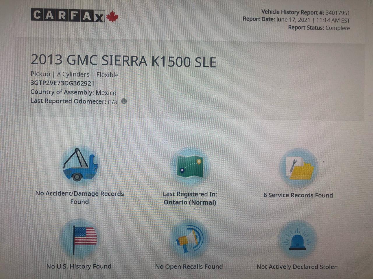 2013 GMC Sierra 1500