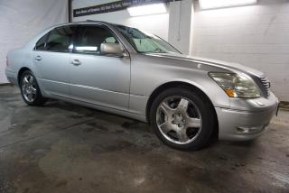 Used 2005 Lexus LS 430 LUXURY PKG NAVI CAMERA DVD CERTIFIED 2YR WARRANTY *FREE ACCIDENT* SUNROOF BLUETOOTH HEATED/COOLED MEMORY LEATHER ALLOYS for sale in Milton, ON