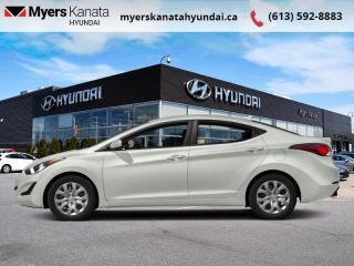 Used 2016 Hyundai Elantra GL  - $94 B/W for sale in Kanata, ON