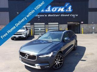 Used 2019 Volvo V90 Cross Country T6 AWD - Navigation, Leather, Sunroof, Heated + Memory Seats, Blindspot Monitor and More! for sale in Guelph, ON