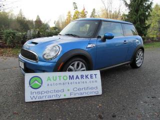 Used 2009 MINI Cooper S AUTO, PANO ROOF, INSP, WARR, FINANCE! for sale in Langley, BC