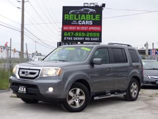 Used 2009 Honda Pilot EX-L,4WD,BACK-CAM,LEATHER,8 SEATER,CERTIFIED for sale in Mississauga, ON