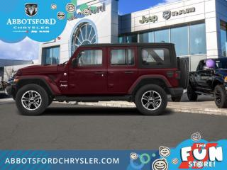 New 2021 Jeep Wrangler Sahara Unlimited  - Leather Seats - $458 B/W for sale in Abbotsford, BC