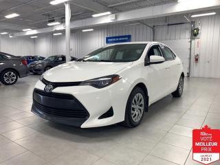 Used 2017 Toyota Corolla LE - CAMERA + S. CHAUFFANTS + JAMAIS ACCIDENTE !!! for sale in Saint-Eustache, QC