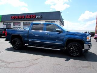Used 2015 GMC Sierra 1500 SLT 5.3L Crew Cab 4WD Navigation Camera Leather Certified for sale in Milton, ON