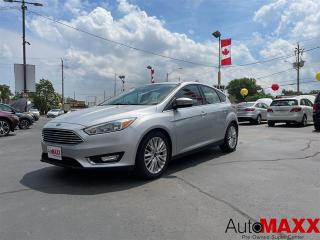 Used 2018 Ford Focus Titanium - HEATED LEATHER, SUNROOF, REMOTE START! for sale in Windsor, ON