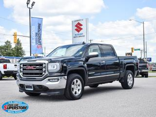 Used 2016 GMC Sierra 1500 SLT Crew Cab 4x4 ~Nav ~Backup Cam ~Heated Leather for sale in Barrie, ON