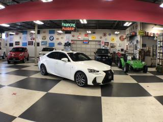 Used 2017 Lexus IS 300 FSPORT AUTO AWD NAVI  LEATHER H/SEATS SUNROOF 67K for sale in North York, ON
