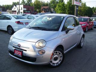 Used 2012 Fiat 500 Pop,5 SPEED,CERTIFIED,NEW CLUTCH,KEY LESS for sale in Kitchener, ON