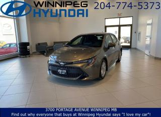 Used 2019 Toyota Corolla Hatchback BASE - Lane departure with steering assist, Pre-Collision system for sale in Winnipeg, MB