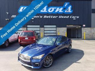 Used 2016 Infiniti Q50 Red Sport 400 AWD - Leather, Sunroof, Navigation, 400HP, Twin Turbo, Heated Seats, 360 Camera & More for sale in Guelph, ON