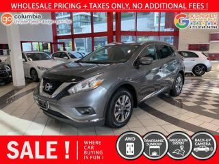 Used 2016 Nissan Murano SL AWD - No Accident / Local / Nav / Pano Sunroof for sale in Richmond, BC