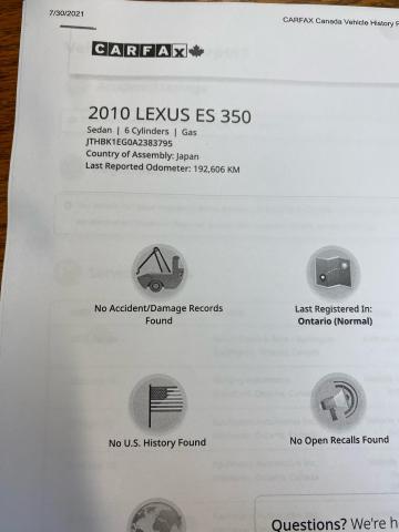 2010 Lexus ES 350  Photo16
