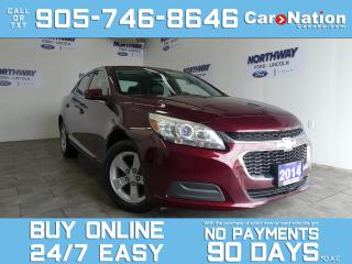 Used 2014 Chevrolet Malibu LT ECO | LEATHERETTE | TOUCHSCREEN | ONLY 79 KM! for sale in Brantford, ON