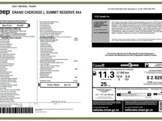 New 2021 Jeep Grand Cherokee L SUMMIT RESERVE for sale in Peace River, AB