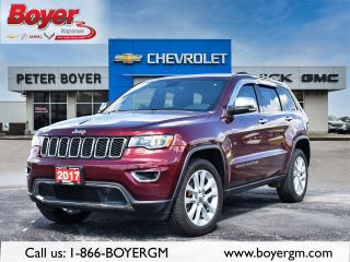 Used 2017 Jeep Grand Cherokee Limited LIMITED | LEATHER | NAVIGATION | SUNROOF! for sale in Napanee, ON
