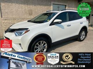 Used 2018 Toyota RAV4 Limited* AWD/Sunroof/Heated Seats/NAVIGATION for sale in Winnipeg, MB