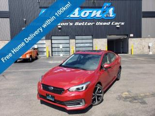 Used 2020 Subaru Impreza Sport-tech AWD, Leather, Sunroof, Navigation, Heated Seats + Steering, Rear Camera and more! for sale in Guelph, ON