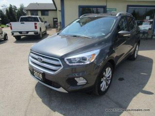 Used 2018 Ford Escape FOUR-WHEEL DRIVE TITANIUM EDITION 5 PASSENGER 2.0L - ECO-BOOST.. NAVIGATION.. LEATHER.. HEATED SEATS.. PANORAMIC SUNROOF.. BACK-UP CAMERA.. SONY.. for sale in Bradford, ON