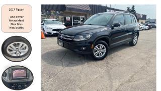 Used 2017 Volkswagen Tiguan Trendline ONE OWNER NO ACCIDENT NEW TIRES + BRAKE for sale in Oakville, ON