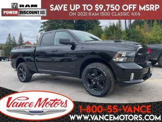 New 2021 RAM 1500 Classic Night Edition Sub Zero 4x4...V6*HTD SEATS! for sale in Bancroft, ON