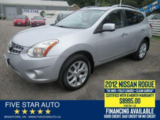 Used 2012 Nissan Rogue SL AWD *Clean Carfax* Certified w/ 6 Month Wrnty for sale in Brantford, ON
