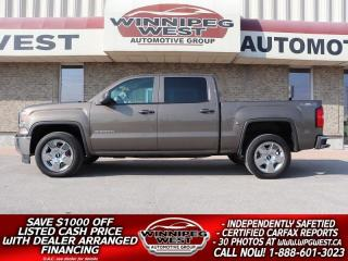 Used 2015 GMC Sierra 1500 CREW 5.3L V8 4X4, WELL EQUIPPED, CLEAN LOCAL TRADE for sale in Headingley, MB