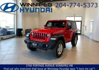 Used 2020 Jeep Wrangler SPORT S - Wash out Interior, Front&Rear Tow hooks, Rear in floor storage for sale in Winnipeg, MB