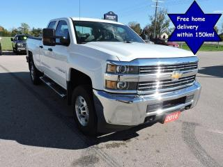 Used 2016 Chevrolet Silverado 2500 WT Double cab 4X4 6.0L Well oiled Only 66000 km for sale in Gorrie, ON