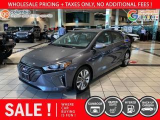 Used 2019 Hyundai Ioniq Hybrid Luxury / Hybrid - No Collision / Local / Sunroof / No Dealer Fees for sale in Richmond, BC
