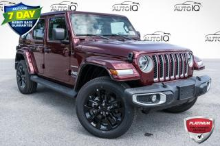 Used 2021 Jeep Wrangler Unlimited 4xe Sahara DEALER DEMO! for sale in Barrie, ON