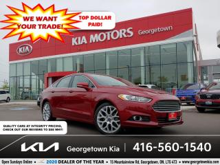Used 2014 Ford Fusion TITANIUM AWD| CLN CRFX| LTHR| NAV| SUNROOF| BU CAM for sale in Georgetown, ON