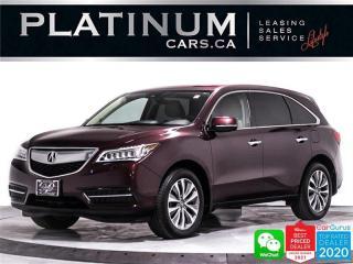 Used 2016 Acura MDX SH-AWD w/TECH, 7 PASSENGER, NAV, HEATED, SUNROOF for sale in Toronto, ON
