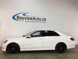 Used 2016 Mercedes-Benz E-Class - 2.0L DIESEL! 4MATIC! LTHR! PANOROOF! NAV! BLACK AMG WHEELS! for sale in Belleville, ON