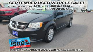 Used 2017 Dodge Grand Caravan Canada Value Package - STOW 'N' GO for sale in Kingston, ON