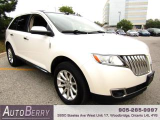 Used 2011 Lincoln MKX AWD Pano Roof, Navi, B/up Cam, Accident Free, One Owner!!! for sale in Woodbridge, ON