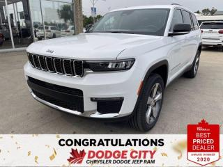 New 2021 Jeep Grand Cherokee L Limited- 4WD,Nav,Remote Start,Htd.Seats/Wheel for sale in Saskatoon, SK