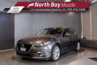 Used 2015 Mazda MAZDA3 GT Manual - Heated Seats - Active Driving Display - Nav for sale in North Bay, ON