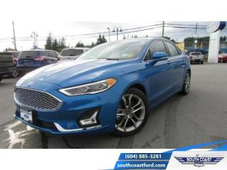 Used 2020 Ford Fusion Hybrid Titanium  - Leather Seats - $186 B/W for sale in Sechelt, BC