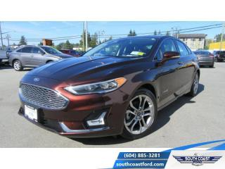 Used 2019 Ford Fusion Hybrid Titanium  - Leather Seats - $183 B/W for sale in Sechelt, BC