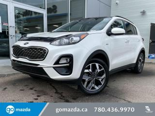 Used 2020 Kia Sportage EX - CLOTH, AWD, PANO ROOF, HEATED SEATS, APPLE CAR PLAY AND MORE! for sale in Edmonton, AB