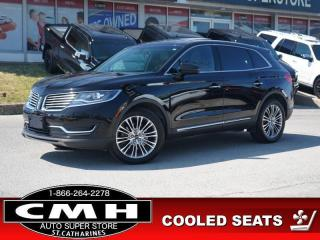 Used 2017 Lincoln MKX Reserve  NAV CAM ROOF COLD-SEATS P/GATE 20-AL for sale in St. Catharines, ON