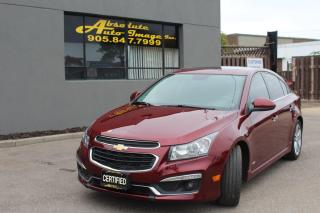 Used 2016 Chevrolet Cruze Limited,Leather, NAVI, Cam, Sunroof LTZ for sale in Oakville, ON