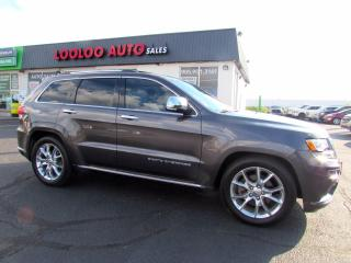 Used 2014 Jeep Grand Cherokee Summit 4WD Diesel Navigation Panoramic Camera Certified for sale in Milton, ON