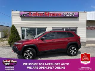 Used 2014 Jeep Cherokee TRAILHAWK LEATHER for sale in Tilbury, ON