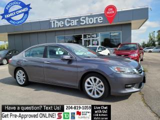 Used 2014 Honda Accord Sedan Touring Sunroof Navigation Heat Leather NO ACCIDNT for sale in Winnipeg, MB